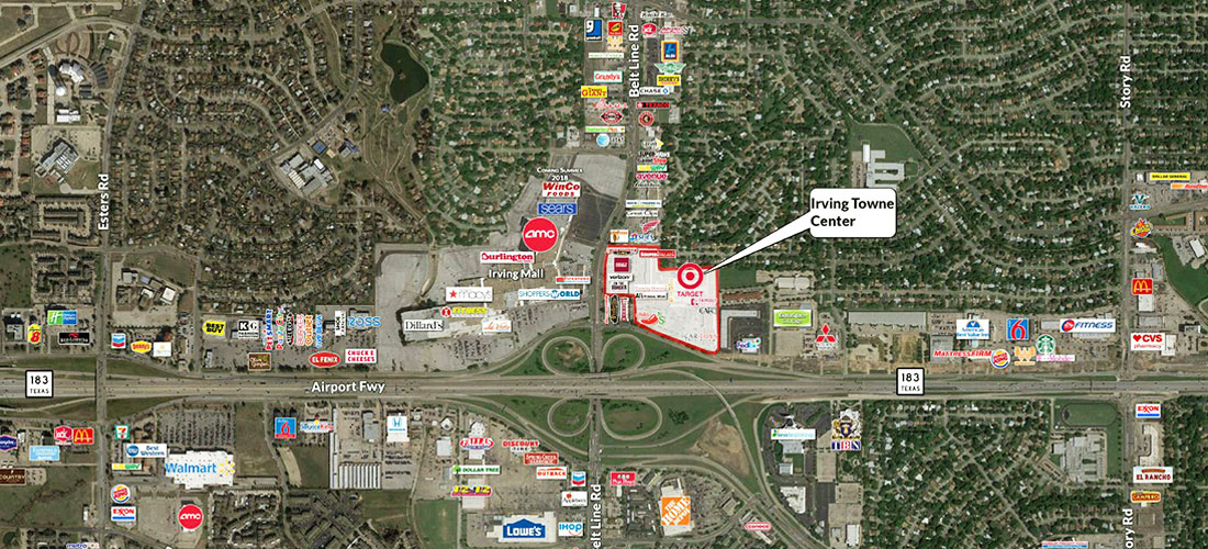 leasing at Irving Towne Center